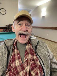Happy Mustache Man
